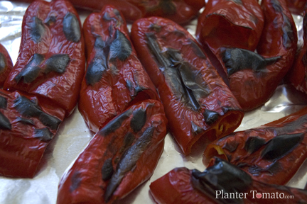 Blistered Red Peppers